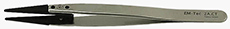 50-007020-EM-Tec 2A-CT ESD safe carbon fiber replaceable tip tweezers-flat wide tips
