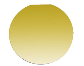Nano-Tec gold coated silicon wafer, Ø2inch/51mm, 275µm thickness, 50nm Au