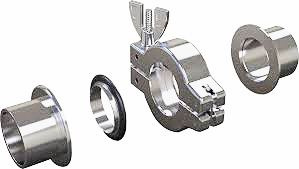 EM-Tec KF / NW vacuum flange connection hardware