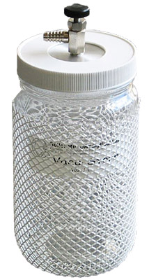 Vacu-Storr high vacuum glass storage container