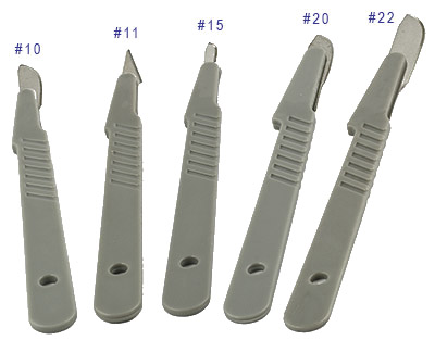 Micro-Tec disposable scalpels with plastic handles