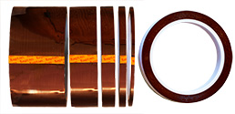 Single sided polyimide (Kapton) tape, 0.08mm thickness, 33m Long