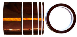Single sided polyimide (Kapton) tape, 0.12mm thickness, 33m long