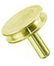 Brass Ø12.7 mm pin stubs