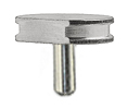 SEM pin stub Ø12.7 diameter top, with flat, standard pin, aluminium