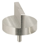 Double 90 degree angled SEM pin stub Ø25.4 diameter standard pin, aluminium