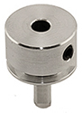 EM-Tec PS5 pin stub round clamp up to Ø3.5mm,  Ø12.7x7.2mm, pin