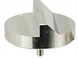 45/90 degree angled SEM pin stub Ø32mm diameter, standard pin, aluminium