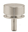 SEM pin stub Ø12.7 diameter + 4mm extra height, standard pin, aluminium