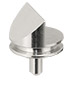 45/90 degree angled Zeiss pin stub Ø12.7 diameter, short pin, aluminium