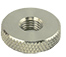 Hitachi H4 knurled aluminium locking nut, 4mmxM6