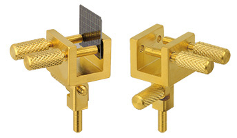 EM-Tec GS10 swivel head sample holder for up to 10mm, gold plated brass, pin