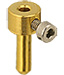 EM-Tec GR2 needle / tube sample holder for up to Ø2mm, gold plated brass, pin