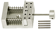 EM-Tec VS12 compact single action spring-loaded vise holder for up to 12mm, pin