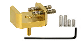 EM-Tec GB16 bulk sample holder for up 16mm, gilded brass, pin