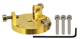 EM-Tec GR20 bulk sample holder for up to Ø20mm, gilded brass, M4