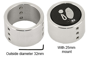 EM-Tec R4 adapter sleeve for 25mm/1inch metallographic mounts, for use with EM-Tec R4 top reference holder