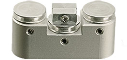 EM-Tec FS21 FIB grid and sample holder for up to 2 FIB grids and  Ø12.7mm pin stub, M4