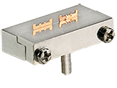 EM-Tec F12LP low profile FIB grid holder for up to 2 FIB grids, pin