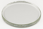Replacement hardened glass lid for EM-Storr series 80 vacuum sample container, Ø100x10mm