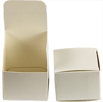 Micro-Tec B30 white tuck-in cardboard box, 300gr/m2, 49x49x36mm