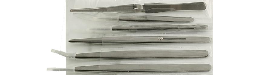 Value-Tec set of 6 larger industrial strong tweezers, includes style 110/510/66X/667/682/686, magnetic stainless steel