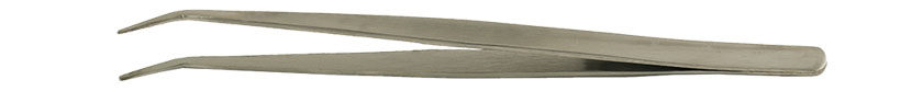 Value-Tec 686.MS industrial strong tweezers, style 686, bent smooth pointed tips, 178mm, magnetic stainless steel