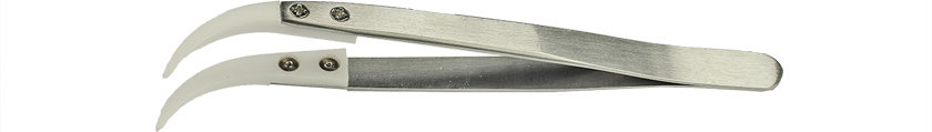 50-014570.jpg Value-Tec 7.ZTA ceramic tips tweezers, curved, strong tips, 128mm