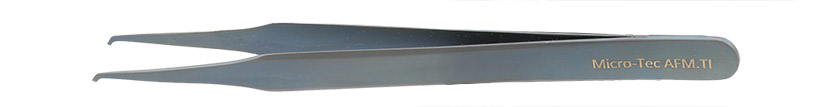 Micro-Tec AFM.TI light-weight, fully non-magnetic AFM / SPM cantilever tweezers, titanium, 118mm, 118 mm