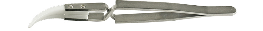 50-X14570.jpg Value-Tec 7X.ZTA ceramic tips reversed tweezers, curved, strong tips, 138mm