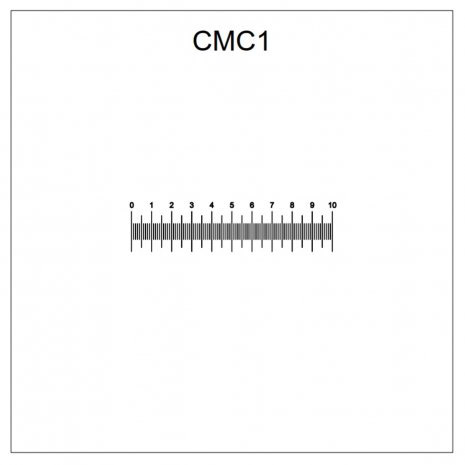 CMC01 correlative coverslips 10mm linear scale with 0.1mm divisions