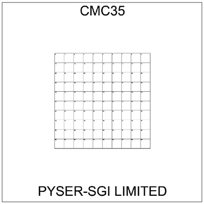 CMC35 correlative coverslips 10x10mm with 1mm divisions