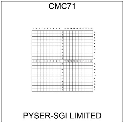 CMC71 correlative coverslips 10x10mm with 0.5mm divisions