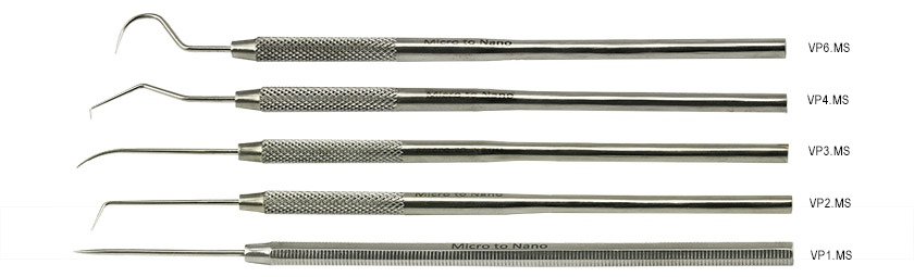 Value-Tec set with 5 probes (VP1/VP2/VP3/VP4/VP6) in plastic pouch, 410 stainless steel