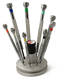 Value-Tec S9 screwdriver set with round aluminium base