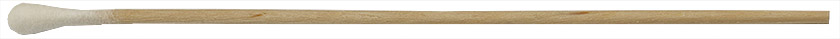 Micro-Tec SL1 cotton tipped applicator stick, single ended, round tip, wood shaft, 150mm