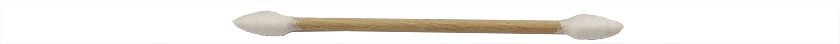 Micro-Tec SP2 cotton tipped applicator sticks, double ended, pointed tip, wood shaft, 75mm