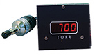 D801W2c wide range vacuum gauge, Torr,  A536 Thermocouple sensor, 2 set-points, 5V & RS232 output, 1/8inch NPT