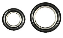 EM-Tec KF vacuum flange centering seals with aluminium centering ring with Viton O-ring
