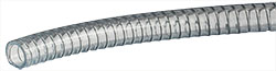 EM-Tec Flextube 25 thick walled clear PVC wire reinforced vacuum hose, Ø 24 x Ø 33 mm,  per m lenght