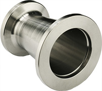 EM-Tec conical vacuum reducers from DN40KF to DN25KF or DN16KF and from DN25KF or DN16KF, 304 stainless steel, 40mm longg