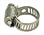 Hose clamps for vacuum hoses and vacuum hose adapters, stainless steel
