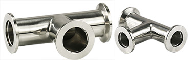 EM-Tec DN-KF equal T connector, 304 stainless steel