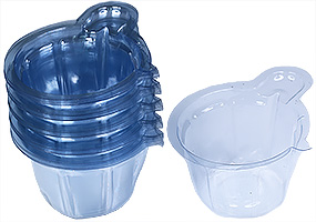 Disposable PVC Mixing cups for epoxy resins, 40ml,  Ø 3.5 x3.5 cm with 2cm handle