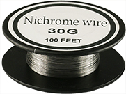 Nichrome 60 evaporation/heating wire, 60/16/24 wt% Ni/Cr/Fe, 0.25mm diameter x 30 meter L, 99.5% purity