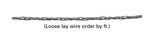Point source lay wire filament P8, Tungsten