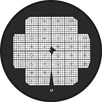 EM-Tec finder TEM support grids, 400 mesh-R7, centre of each 6x4 squares identified with numerals A-Z-1-14