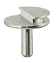Low profile SEM pin stub Ø12.7 diameter with 90°, aluminium
