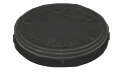 Micro-Tec Carrier Tray 1 inch/25mm diameter, anti-static black Polypropylene